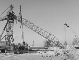 Демонтаж строительных кранов