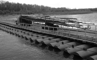 Понтонные мосты из стальных труб