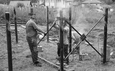 Столбы для ворот и заборов из б/у труб