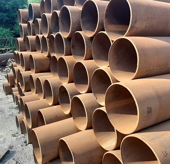 Труба стальная прямошовная б/у 377 мм.