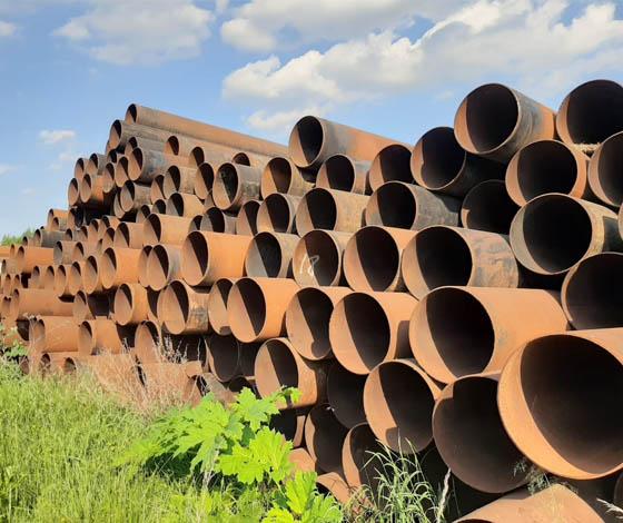 Трубы б/у стальные прямошовные 530 мм