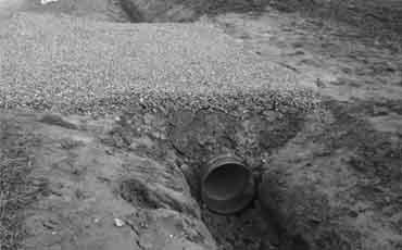Трубы в канаву, под заезд