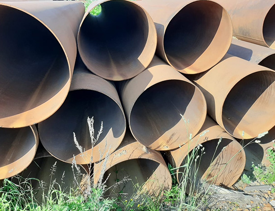 Труба стальная б/у 720 мм.